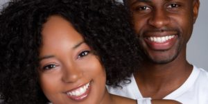 Couple after professional tooth whitening